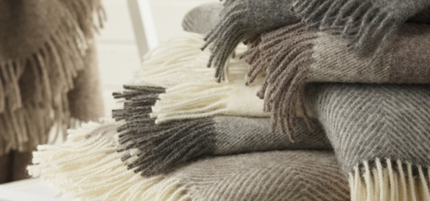 Gorgeous, natural fabric wool throws, Bronte by Design