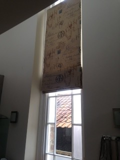 Interlined Roman Blinds