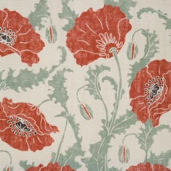 poppies rouge clair emily burningham fabric