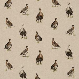 linen fabric birds